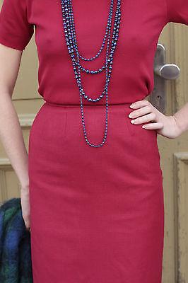 Creativo Donna Gonna Skirt Pepitamuster Rosso Red 80er True Vintage 80´s Women Elegant-mostra Il Titolo Originale Evidente Effetto