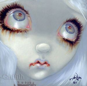 Fairy-Face-175-Jasmine-Becket-Griffith-Big-Eye-Vampire-Fairy-SIGNED-6x6-PRINT