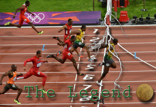 Usain Bolt Olympic Poster//Print//2012 London//Track//Running//Gold Medal