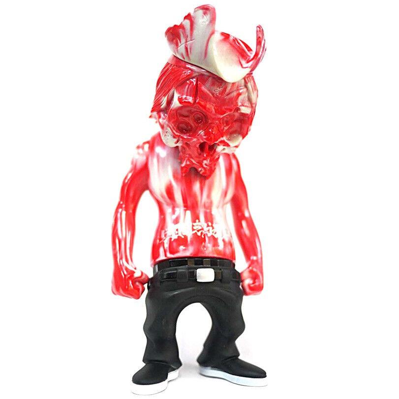Secret Base x Pushead x Usugrow Red Marble Rebel Captain YEAR END too INK SKULL