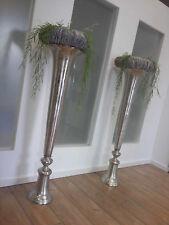 Xxl Vase Achilles 92cm Aluminium Nickel Silber Amphore Bodenvase Alu