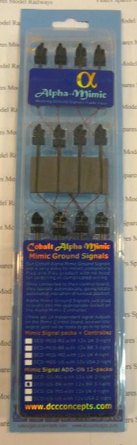 DCC Concepts DCDGSBR Mimic Ground Signal Add on Pack Pk12 BR 3 Light HOOO