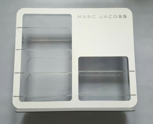 MARC JACOBS SIX PIECE DOUBLE SIDED LOGO DISPLAY UNIT IN WHITE /& BLK PLEXIGLASS