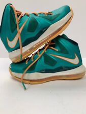 separation shoes e83bf 070b9 item 1 Nike Lebron 10 X Miami Dolphins GS Size 4Y green white orange 543564  302 -Nike Lebron 10 X Miami Dolphins GS Size 4Y green white orange 543564  302