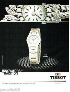 PUBLICITE ADVERTISING 026  2002  Tissot  montres  INNOVATORS
