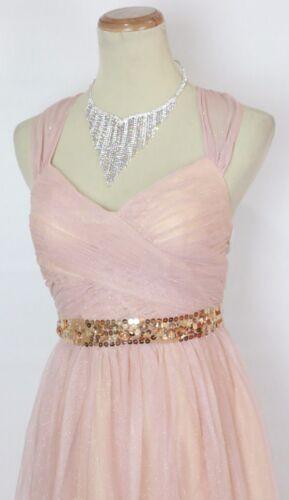 Hailey Logan USA Grand Long $160 Blush Prom Formal Cruise Dress Size 5 Junior