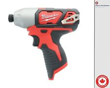 New Milwaukee 2462-20 M12 1/4 Inch Hex 12 Volt Impact Driver Tool Only
