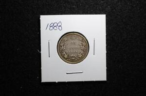 1888 - 25 CENTS - CANADA - See pictures for condition