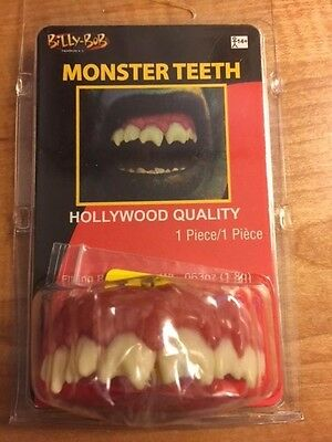 Monster Teeth - Fake Reusable Monster Teeth - Great Theatrical Makeup Prop