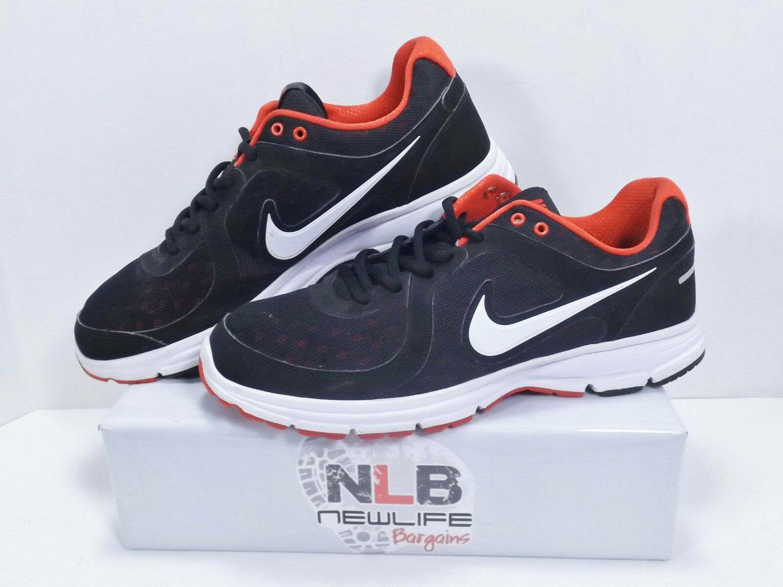 2013 Nike Relentless 443844-004 Black/Red Men's Comfortable Comfortable and good-looking