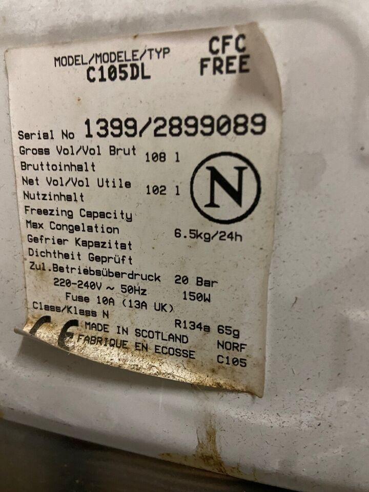 Kummefryser, Norcold Norfrost, 100 liter