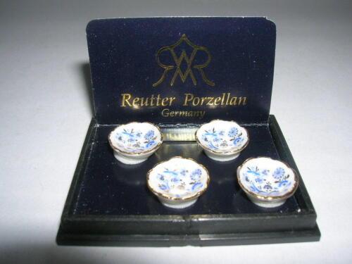 Reutter Porzellan 4 salade coupelle goldzwiebel Dessert Bowl Set Poupée 1:12