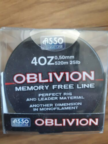 Asso Oblivion Memory Free Rig /& Leader Fishing Line 25lb 520m sea fishing