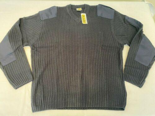 J99-120. New Mens RTY Nato Style V Neck Sweater Navy 5XL