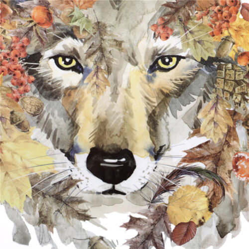 Wolf Irons on Stickers Leaves Patches DIY Washable Heat Transfer Applique Decors