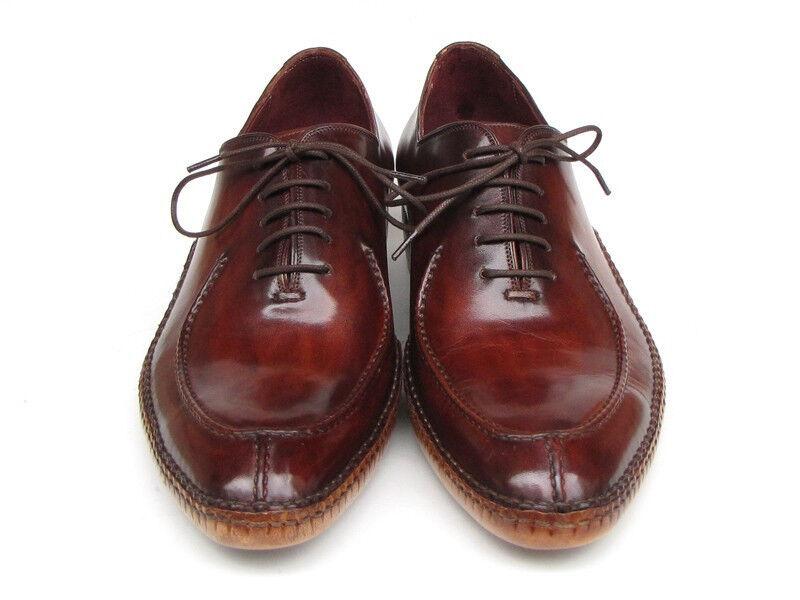 Paul Parkman uomo SIDE cuciti a mano split-toe split-toe split-toe Borgogna Oxfords (ID 054-BUR) | qualità regina  | Uomo/Donne Scarpa  aa90b9