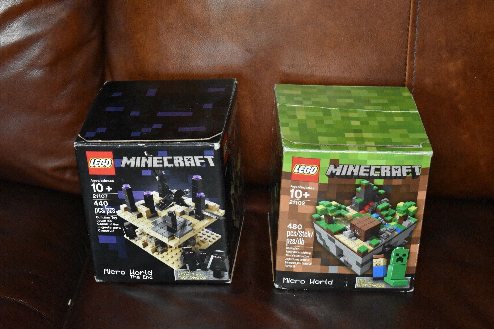 LEGO Minecraft Sets Ideas Micro World 21102 + The End 21107