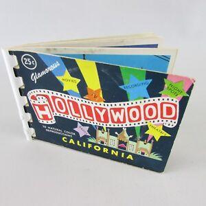 RARE-HOLLYWOOD-California-SOUVENIR-POSTCARD-set-10-CARDS