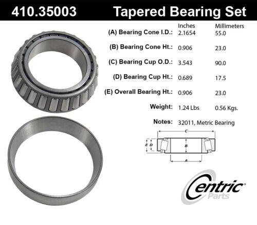 Wheel Bearing and Race Set-C-TEK Bearings Centric 410.35003E