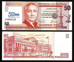 2013 P-193d Unc Philippines 50 Piso