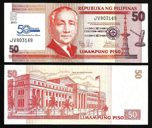 PHILIPPINES 50 PISO 2013 UNC P-215 COMMEMORATIVE 50 YEARS OF PDIC