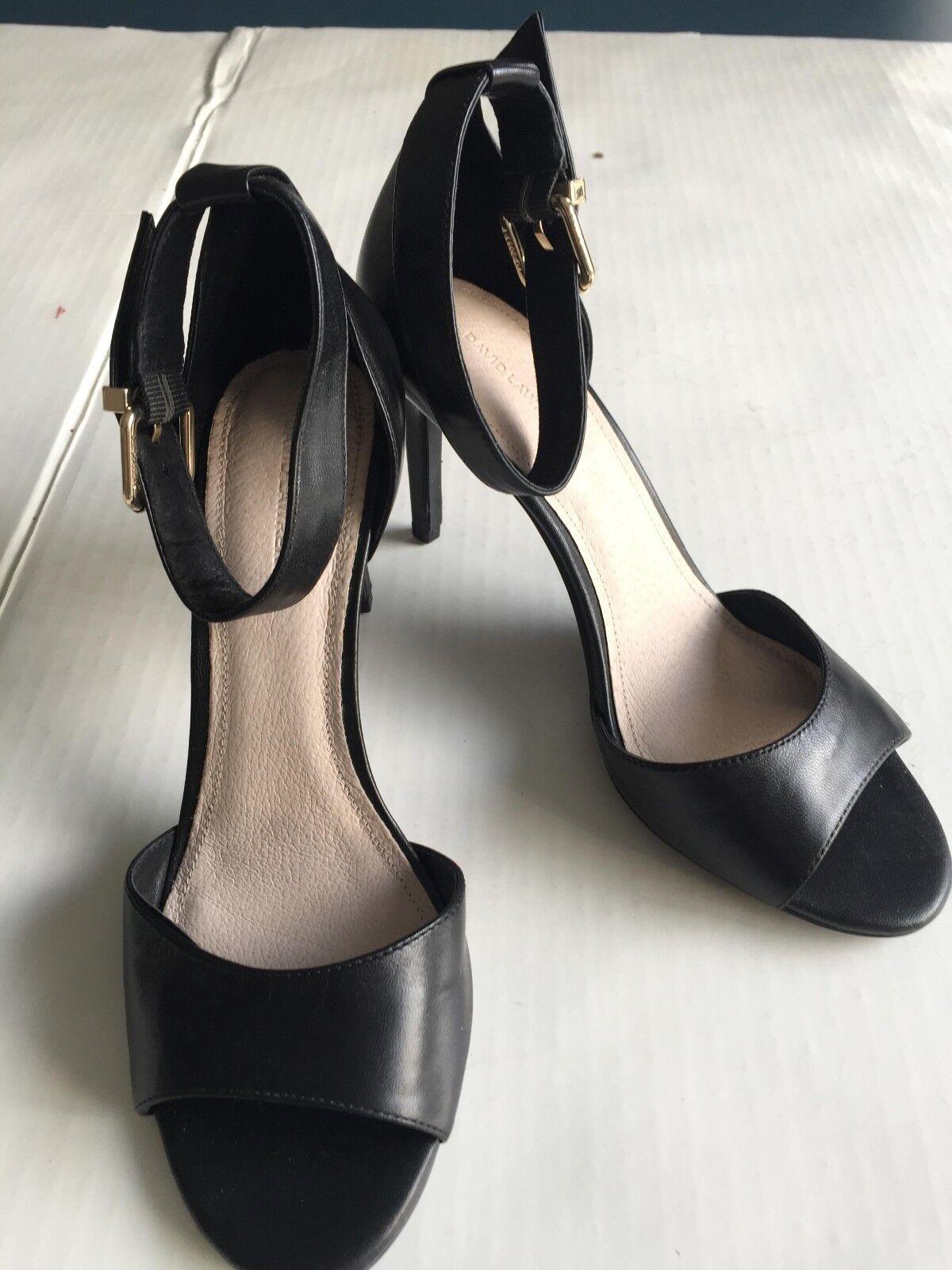 David Lawrence Luana Peeptoe Heel - Brand New - Size 38 - Leather shoes