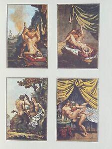 Agostino Carracci erotico Jupiter Faun pene atto Bacco MITOLOGIA SATIRO vagina