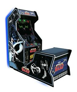 Star-Wars-Arcade-1up-Home-Cabinet-Arcade-Free-Adapters-Lighted-Marquee-Chair-New