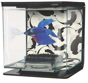 Marina betta aquarium kit fish tank betta bowl 1 2 gallon for 2 gallon fish bowl