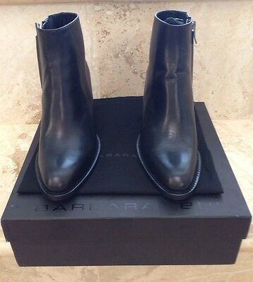 Barbara Bui NWB Black Leather Ankle Boots Boot $780 Size 38 Med