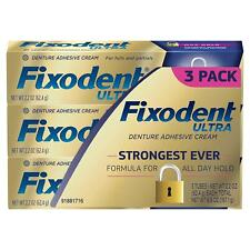 Fixodent Ultra Max Hold Dental Adhesive 2.2 Oz. 3 Pk.