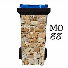 Mülltonnenaufkleber MO39 Steinmauer Naturstein 60-80 l Aufkleber Mülleimer