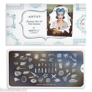 MoYou-London-ARTIST-21-Collection-Stamping-Schablone-Stift-Stern-Kreuz