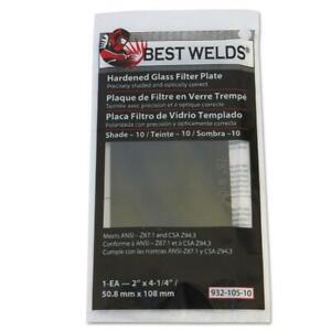 Glass welding helmet Cover Lens 2/' x 4 1//4/' Pack of 10