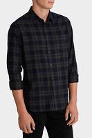 Maddox Utah Long Sleeve Check Shirt Green