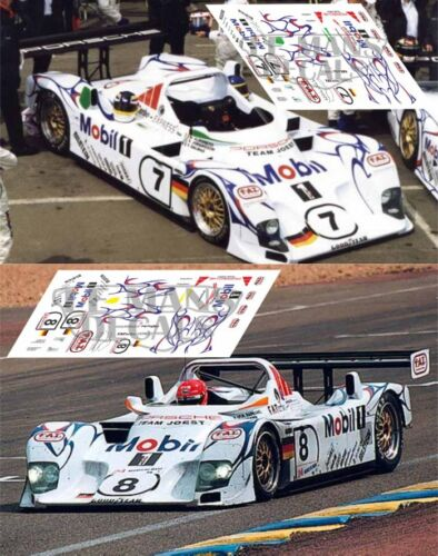 Calcas Porsche LMP1 98 Le Mans 1998 7 8 1:32 1:43 1:24 1:18 slot decals