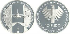 Aviation Exhibition 2009 Mint Mark D Proof, IN Coin Capsule