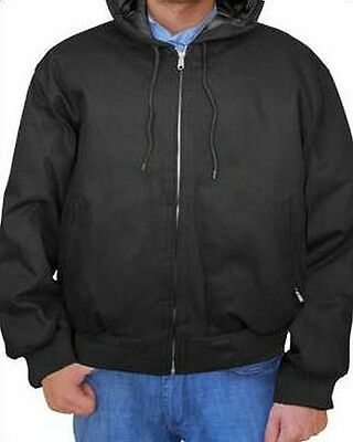 Mens Heavyweight Hooded Winter Work Hunting Fishing Jacket - Big Plus Sizes