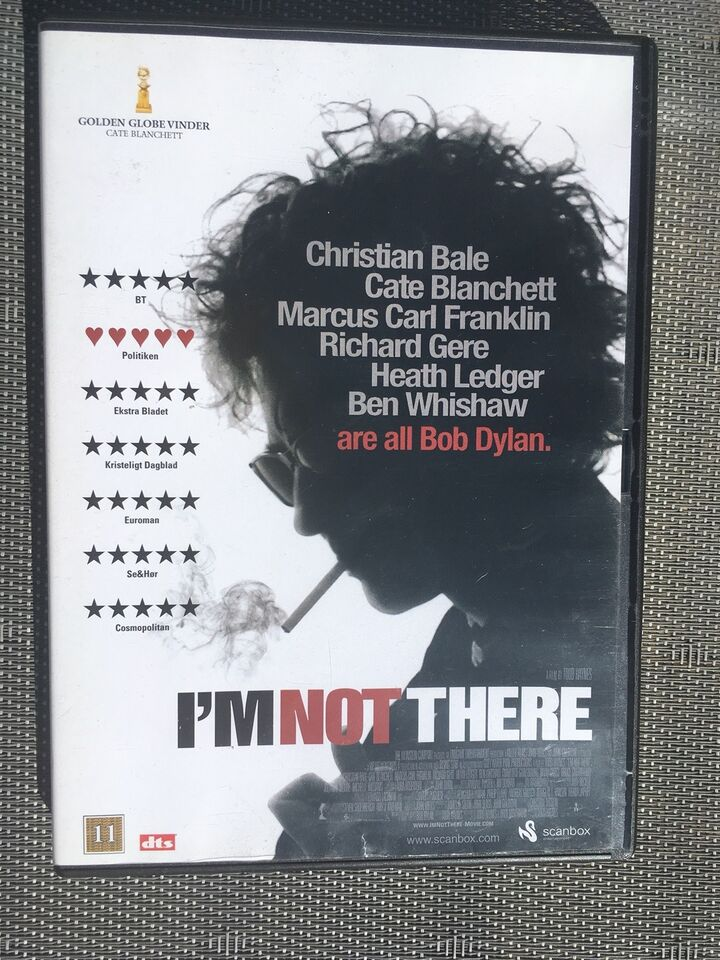 I'M Not There, instruktør Todd Haynes, DVD