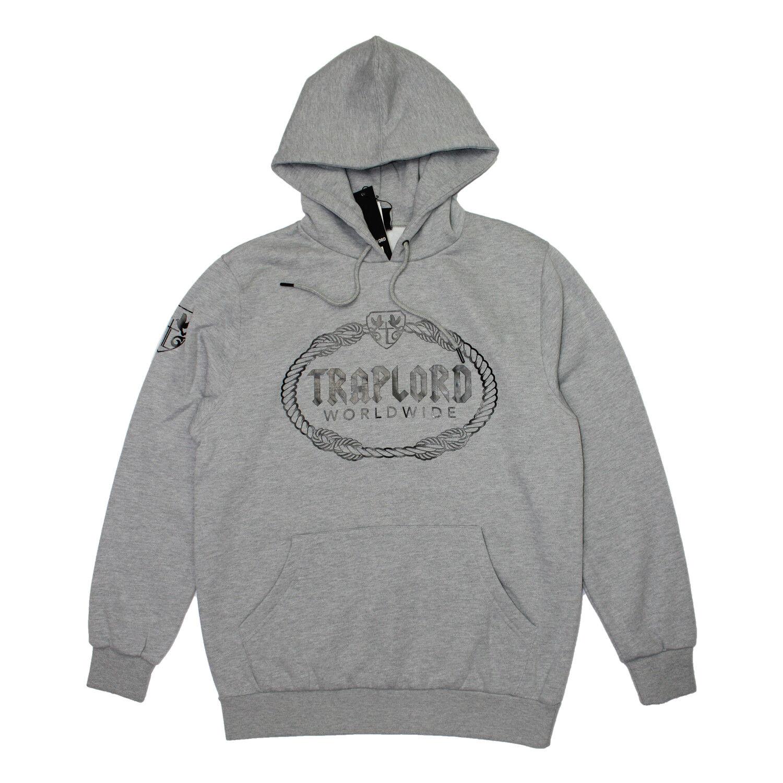 Traplord  Herren Prosper Fleece Pullover Graphic hoodie Heather grau ASAP FERG