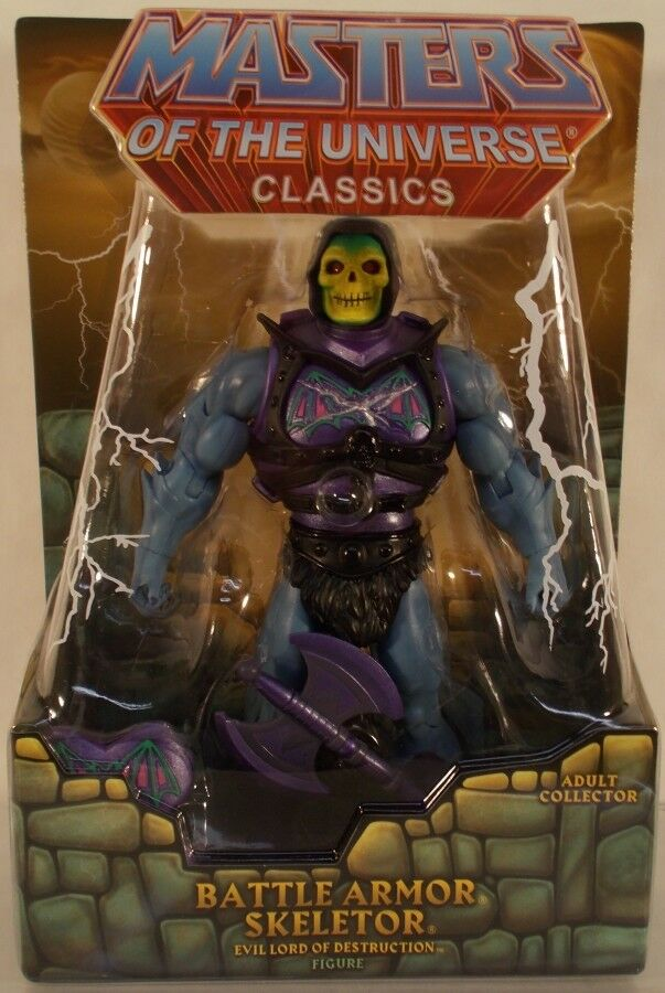 Masters of the Universe Classics Battle Armor squelettor (Comme neuf on card) avec Mailer Masters of the Universe