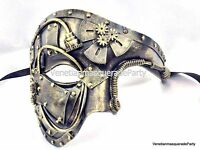 Steampunk Warrior Soldier Mens Masquerade Phantom Mask Prom Military Party