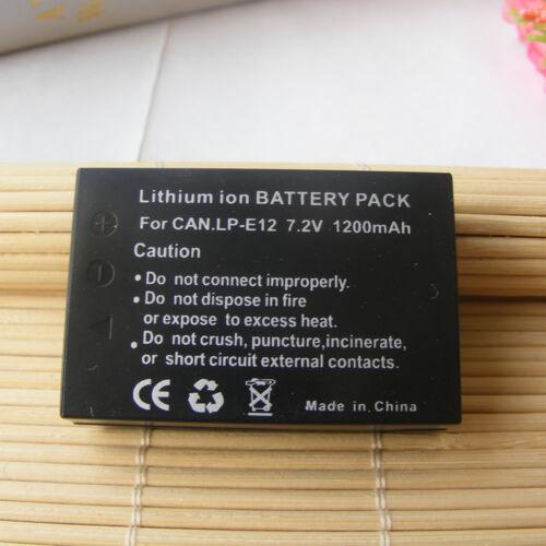 LP-E12 Batería Para Canon Rebel SL1 EOS-M EOS M2 M10 M50 M100 100D LC-E12 Cámara