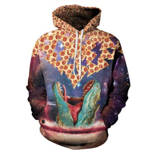 Women Men Galaxy Space 3D Print Jumper Sweatshirt Hooded Hoodie Pullover Outwear