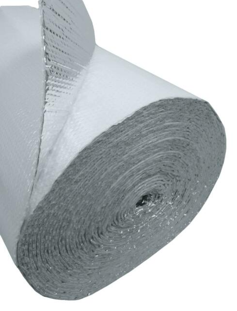 2x25ft White Double Bubble Reflective Foil Insulation Thermal Barrier R8 50sqft