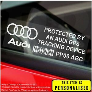 X Audi PERSONALISED GPS Tracking DeviceSecurity StickersAlarm - Audi car tracker