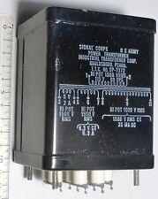 Transformateur d'alimentation secteur poste radio émetteur Signal-Corps SP-7372