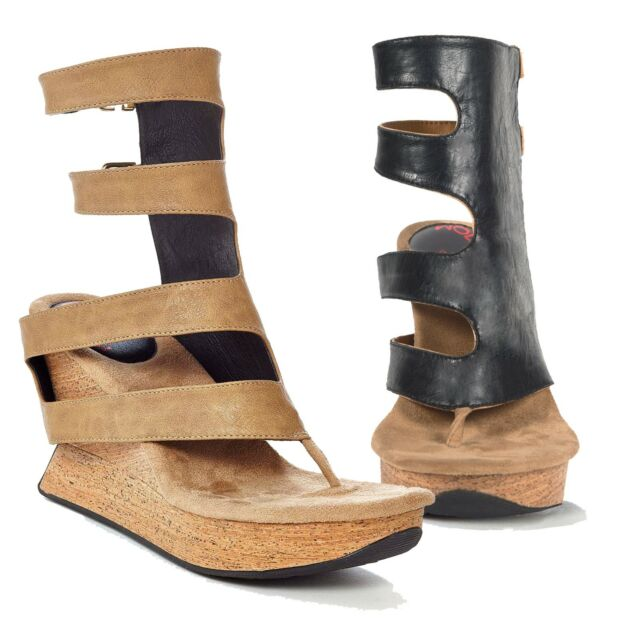 Modzori Vita Women's High Wedge Reversible Twister Sandal, 6M