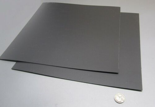 "Polypropylene Sheet Black 2 Pieces Formex Flame Retardant .040/"" x 12/"" x 12/"""