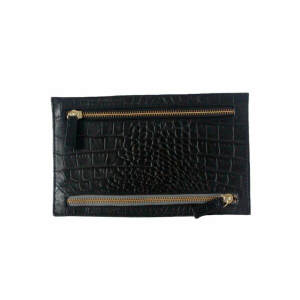 100% Verdadero Premium Quality Croco Embossed Leather Travel Multi Currency Purse Wallet Productos De Grado SegúN Calidad